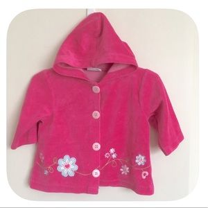 Other - 💗Baby Girls Pink Hooded Flower Jacket
